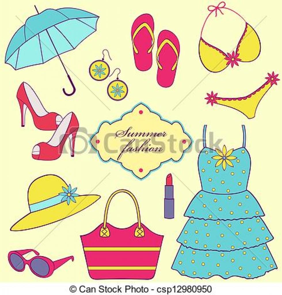 Yellow Dress clipart summer dress Dresses summer wear summer clipart