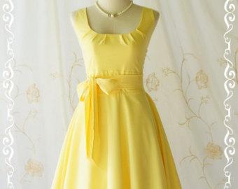 Yellow Dress clipart sundress Vintage party dress dress summer