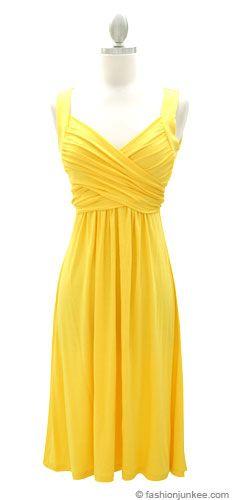 Yellow Dress clipart sundress Dress outfits  wardrobes accessories