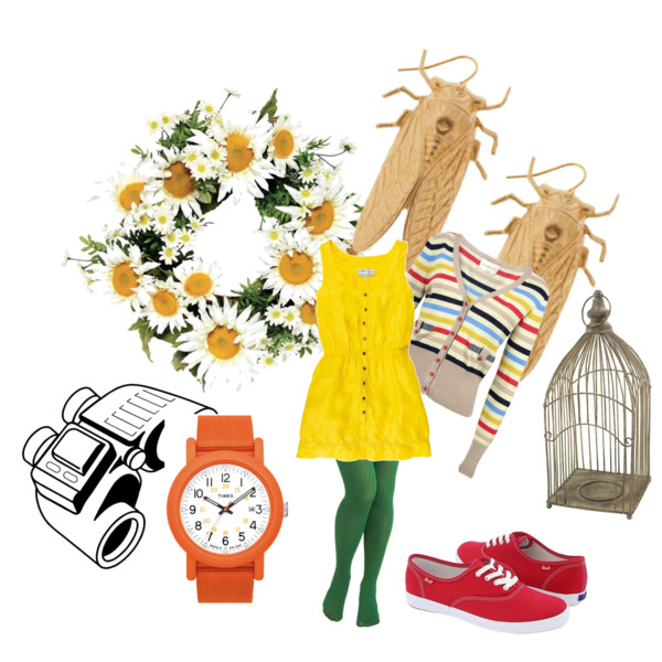Yellow Dress clipart yellow shoe Tights shoes July and lovegood