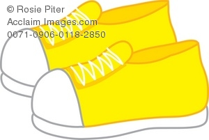 Yellow Dress clipart yellow shoe Clipart Yellow Sneakers Sneakers Clipart