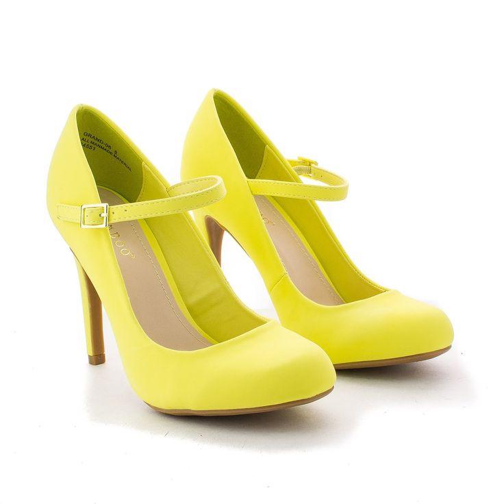 Yellow Dress clipart yellow shoe Yellow heels Lady Shoe heels