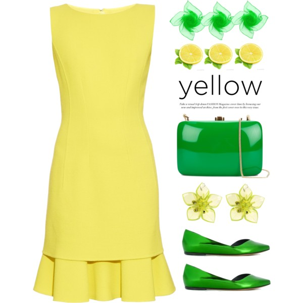 Yellow Dress clipart yellow shoe March shoes dress and featuring