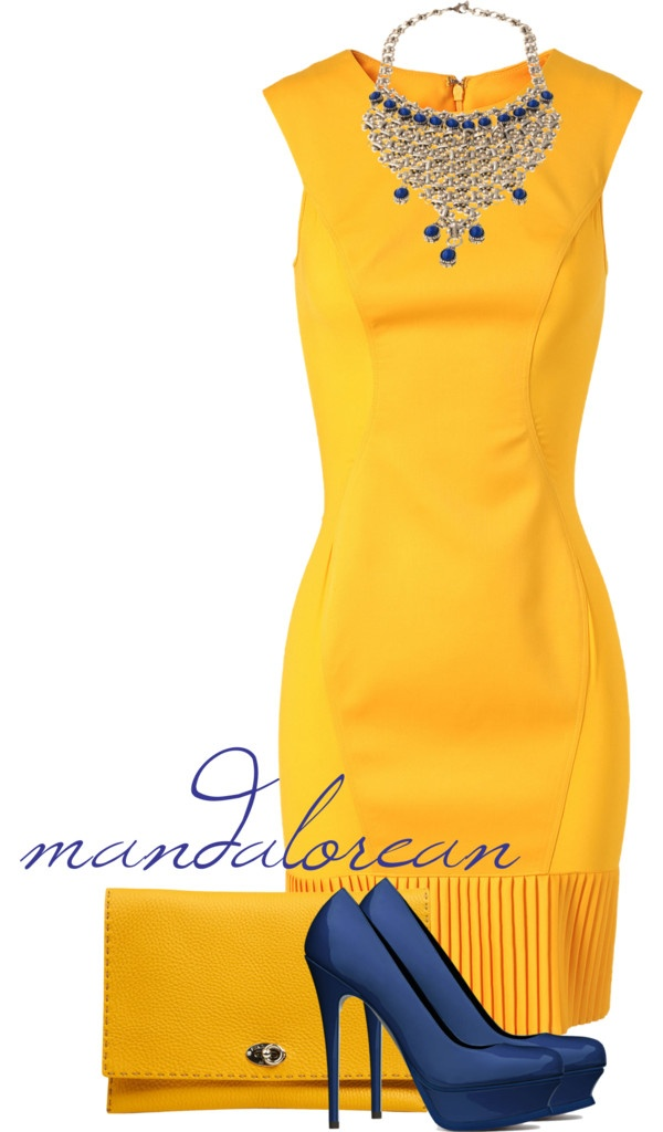 Yellow Dress clipart yellow shoe Yellow accessories accessories casual fitted