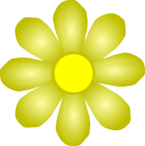 Yellow Flower clipart yellow color At Flower online clip art