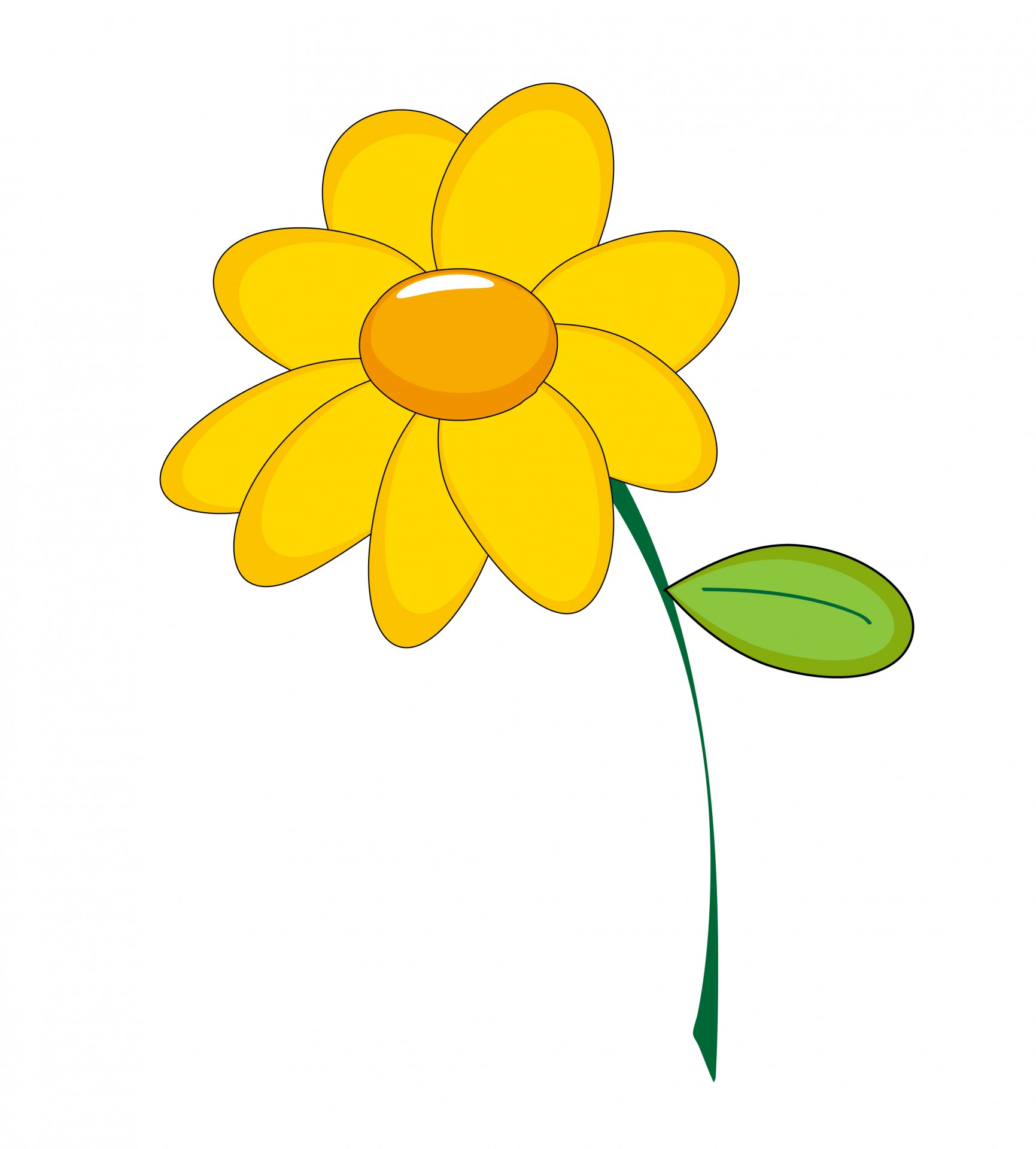Yellow Flower clipart Stock Flower Free Pictures Photo
