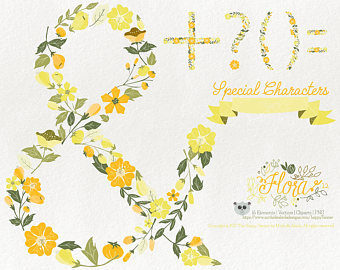 Yellow Flower clipart 70 flower Characters 70% 12 OFF! Graphics