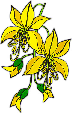 Yellow Flower clipart animated Flowers with Flower Clipart buds
