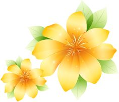 Yellow Flower clipart beautiful flower Flowers Pinterest Transparent Flower Clipart