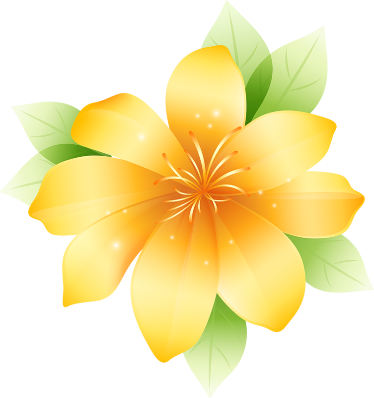 Yellow Flower clipart big flower Flower Clipart  High available