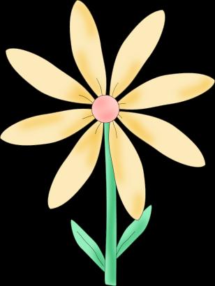 Yellow Flower clipart big flower Art Clip Flower and Pink