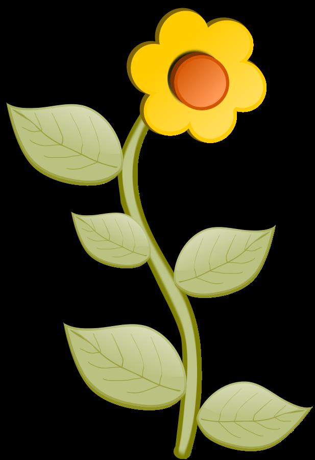 Yellow Flower clipart big flower Clipart flower size flower Big