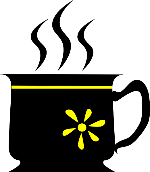 Yellow Flower clipart black and white Clip image as:  Black