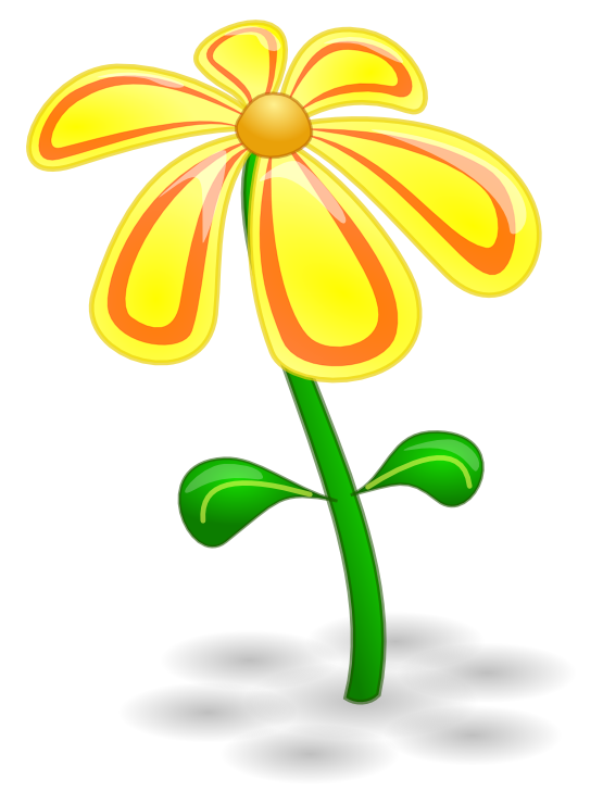 Yellow Flower clipart february flower Background  Flora clipartsy Flora