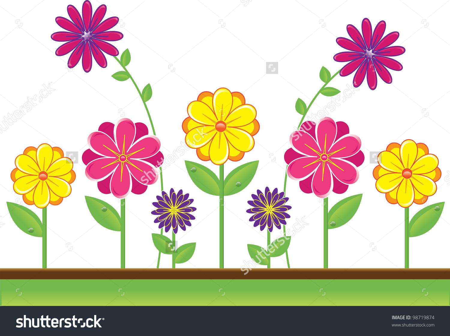 Yellow Flower clipart floral Clip collection clipart Cute floral