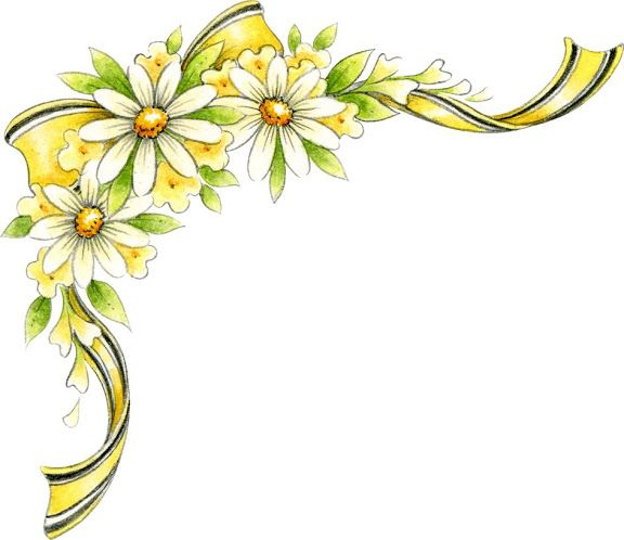 Yellow Flower clipart floral corner Flowers corner more and this