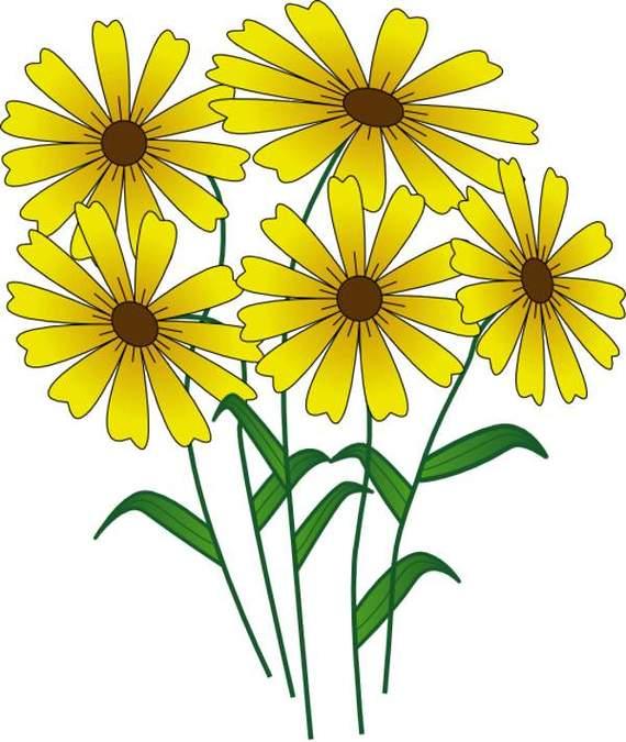 Yellow Flower clipart flowe Clip Flowers Spring art clip