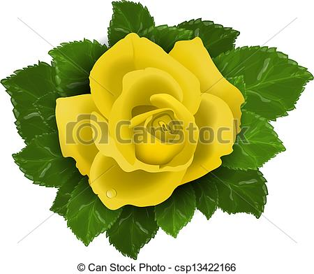 Yellow Flower clipart flower leaves Art Yellow of leaves with