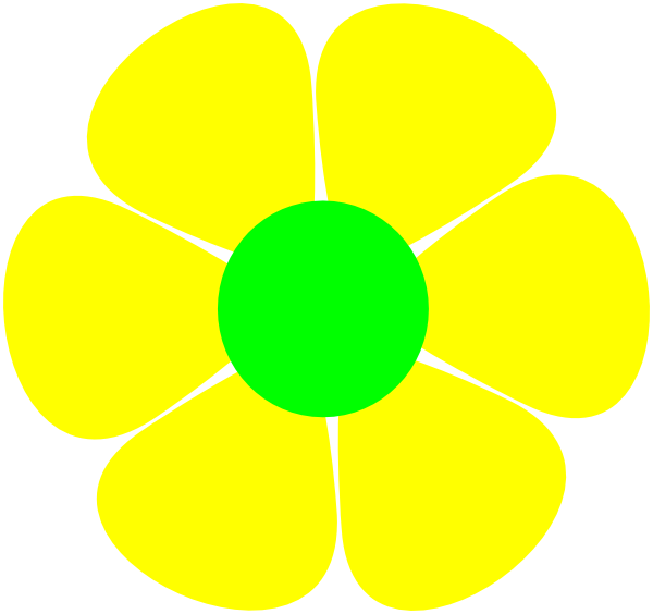 Yellow Flower clipart flower power Com this as: Download Flowerpower