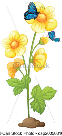 Yellow Flower clipart yellow color Clip flowers  blooming plant