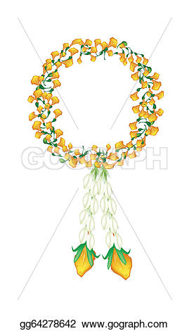 Yellow Flower clipart garland And EPS jasmine with or