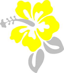 Yellow Flower clipart hawaiian Clip Grey Clip  And