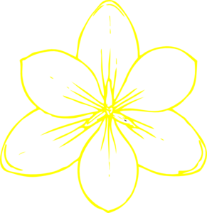 Yellow Flower clipart png format Clip Yellow  Flower 35