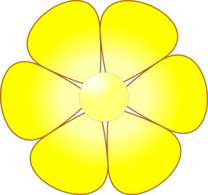 Yellow Flower clipart png format At Yellow Flower Art clip