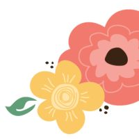 Yellow Flower clipart retro flower Clipart on Vintage on more