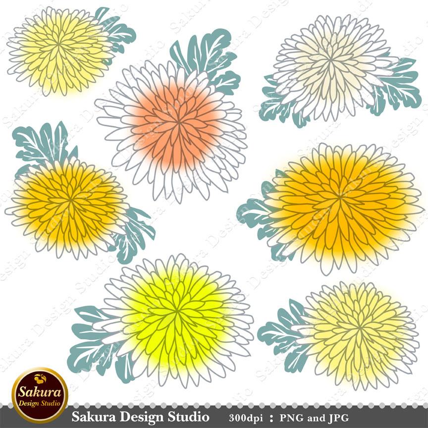 Yellow Flower clipart scrapbook png  Sakura Clip crafts crafts