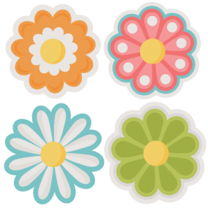 Yellow Flower clipart scrapbook png Assorted free cut cut files