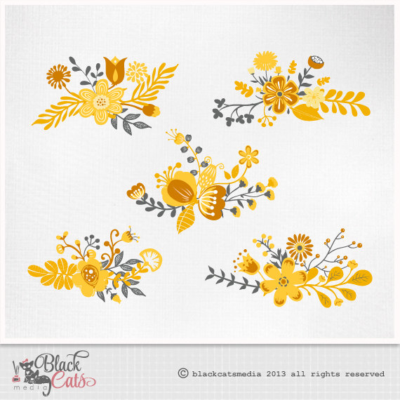 Yellow Flower clipart scrapbook png Like Flower and item? Wedding