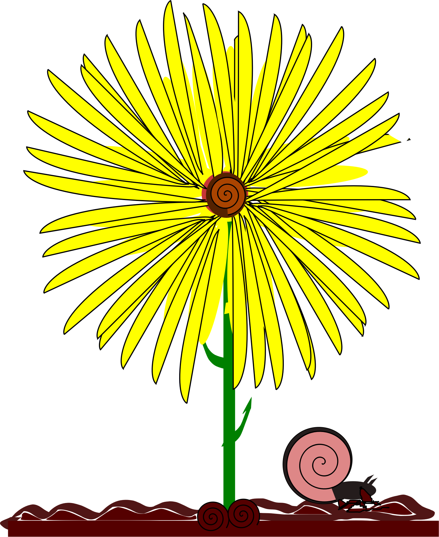Yellow Flower clipart september flower Flower yellow and and flower