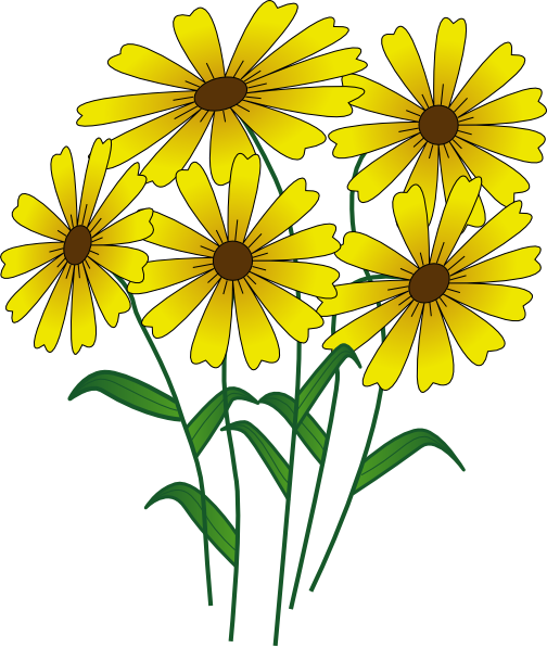 Yellow Flower clipart small plant  clip Flower large Clip
