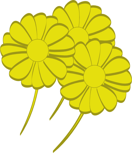 Yellow Flower clipart small plant  art Flowers large Art