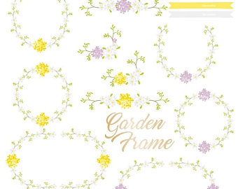 Yellow Flower clipart summer border Clip Flowers Mason _ Botanical