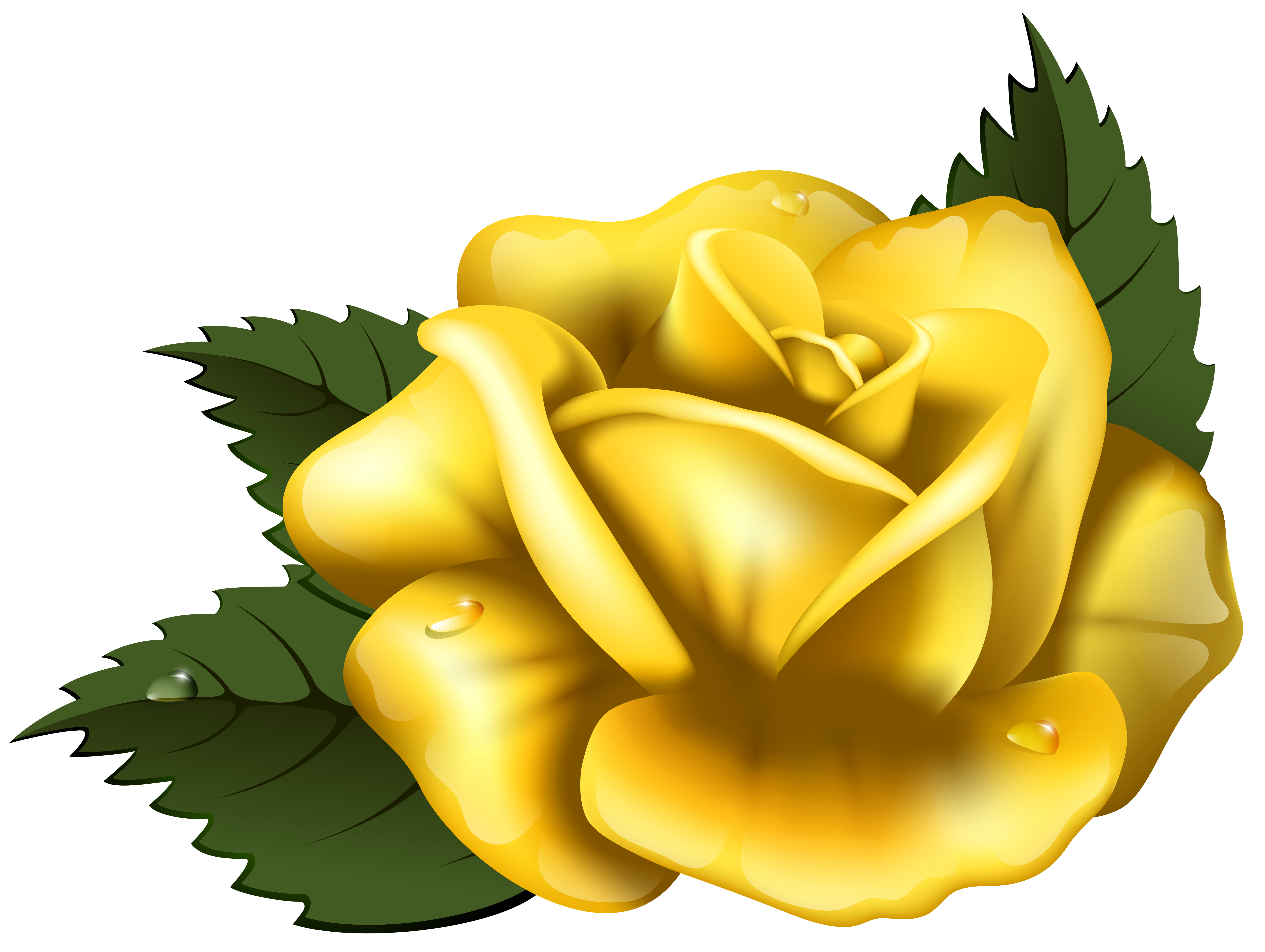 Yellow Flower clipart yellow rose PNG Yellow Clip Image Rose