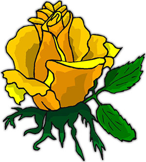 Yellow Rose clipart animated Rose Clipart Large Free Rose