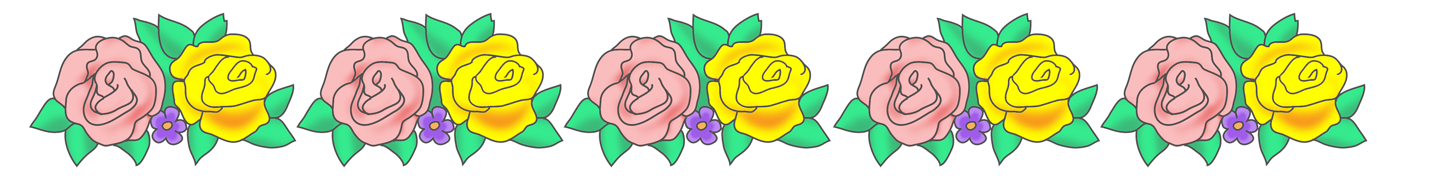 Yellow Rose clipart boarder Flower borders border rose and