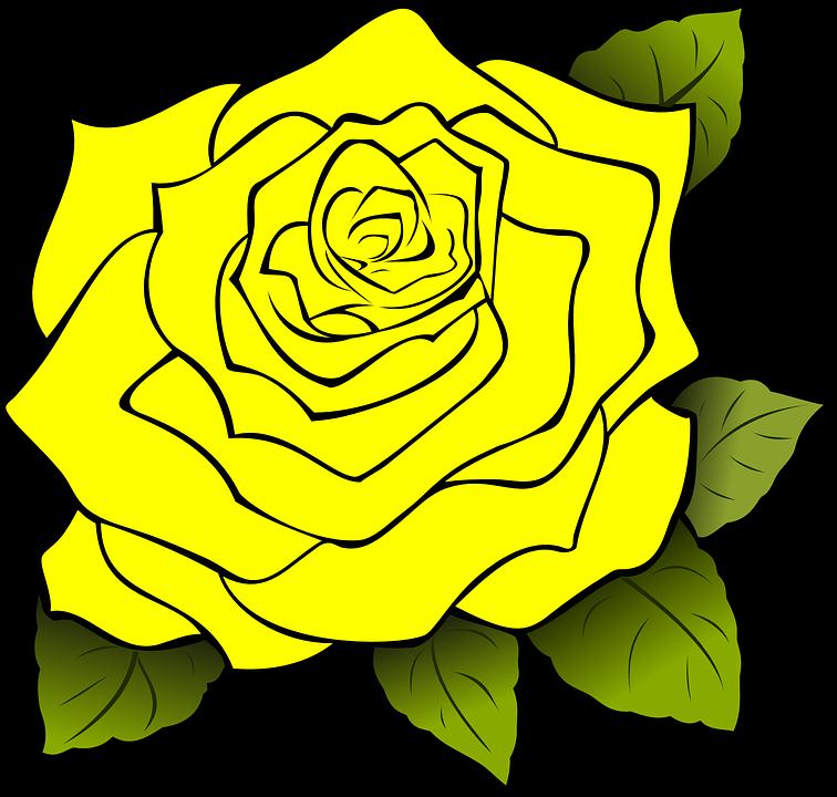 Yellow Rose clipart boarder Download Rose Download svg svg