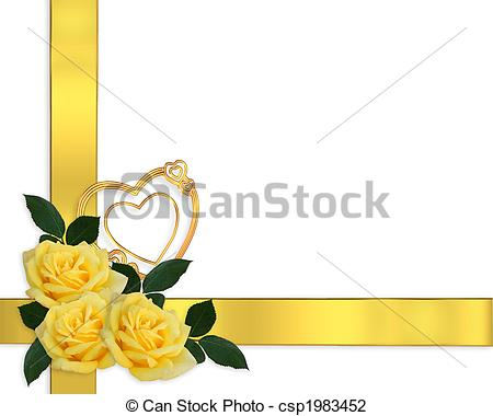 Yellow Rose clipart boarder Of Border  Illustration Yellow