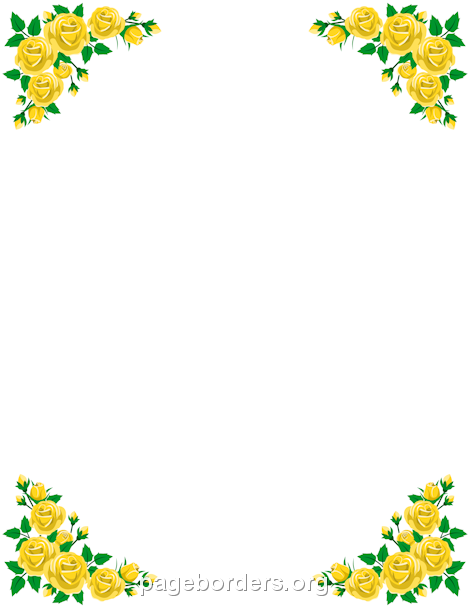 Yellow Rose clipart boarder Border rose rose Word border