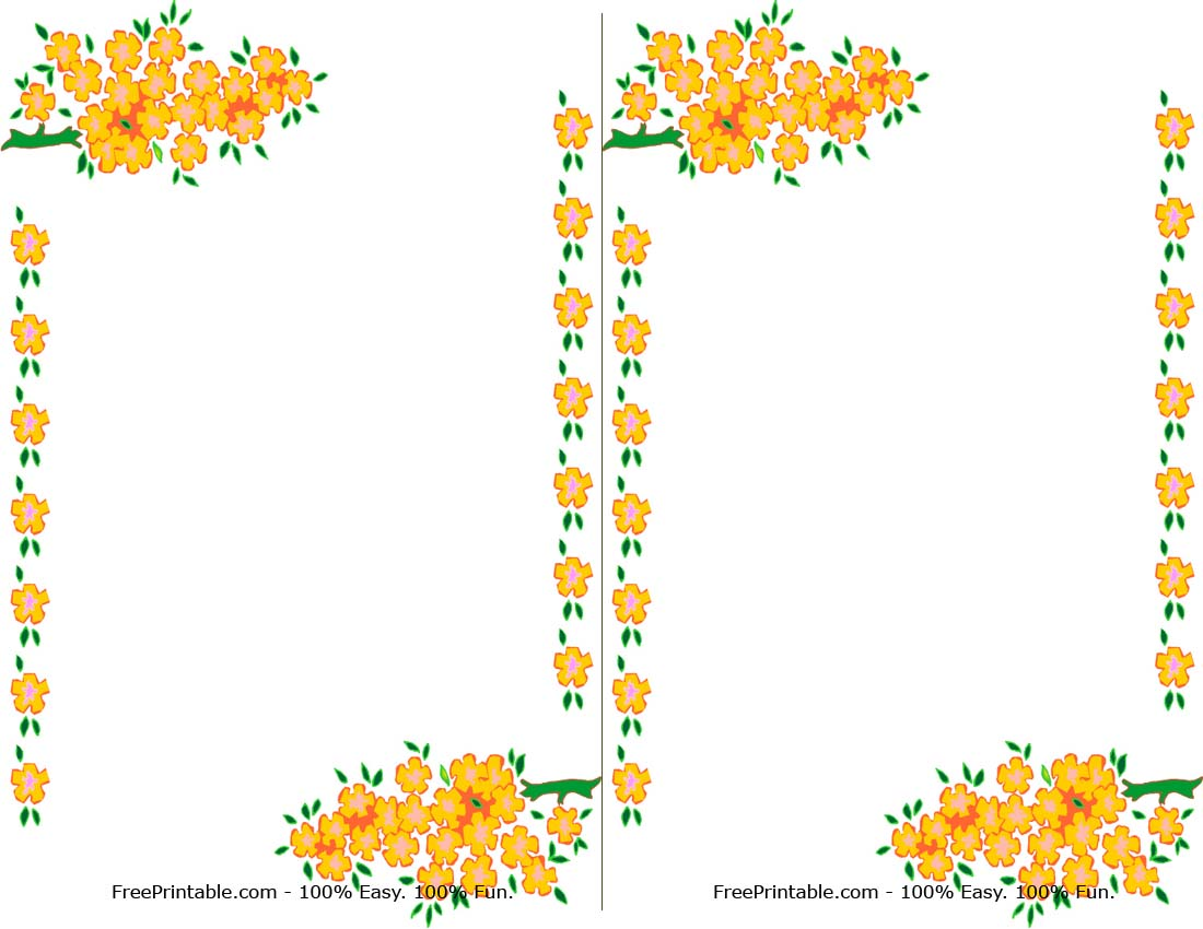 Yellow Rose clipart boarder Printable Free Art Border Suggestions