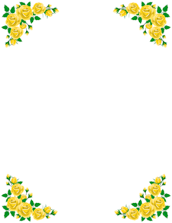 Yellow Rose clipart boarder Rose Rose Border Yellow Border