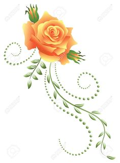 Yellow Rose clipart bud #5