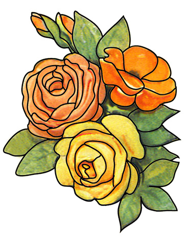 Yellow Rose clipart bud Flower Clipart Free leaves and