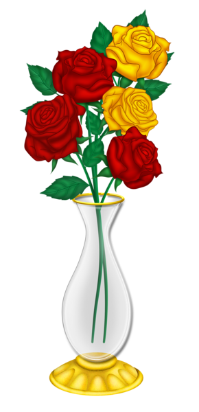 Red Flower clipart nice view #7