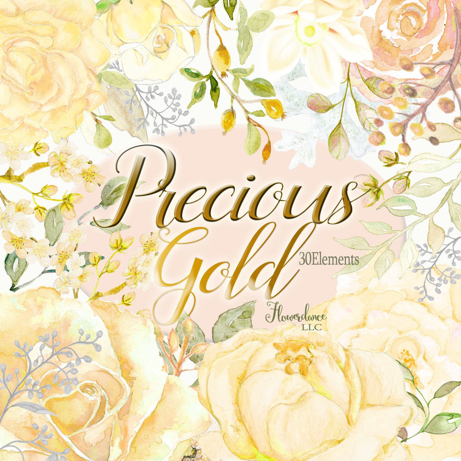 Yellow Rose clipart gold element Gold is roses clipart rose
