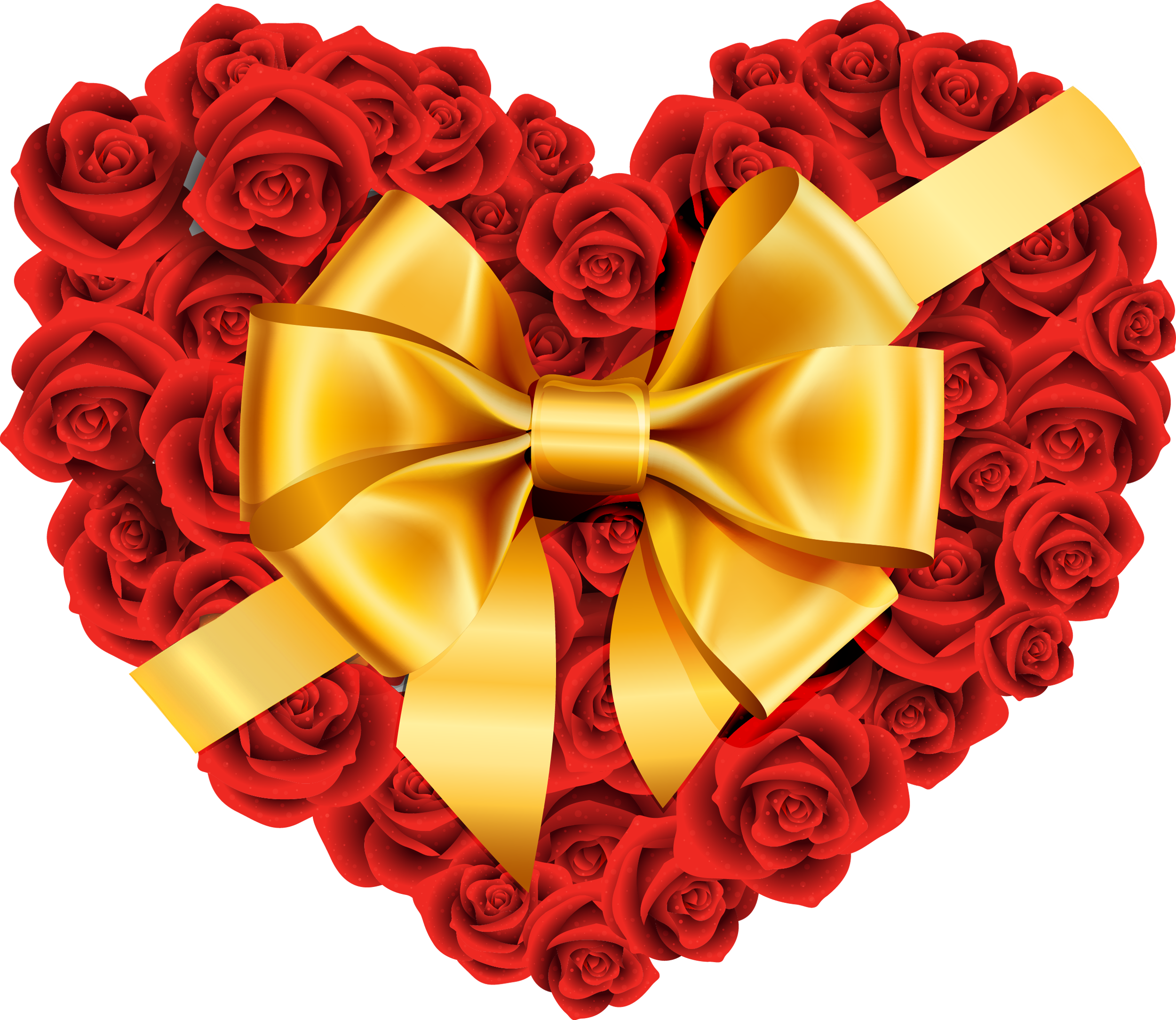 Yellow Rose clipart gold heart PNG Clip  Free Rose
