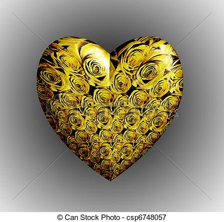 Yellow Rose clipart gold heart Illustrations  Illustration roses Yellow